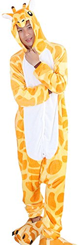 Unisex Adult Cartoon Onesies Animal Cosplay Costume Flannel Pajamas Loungewear (Masked Ball Outfit)