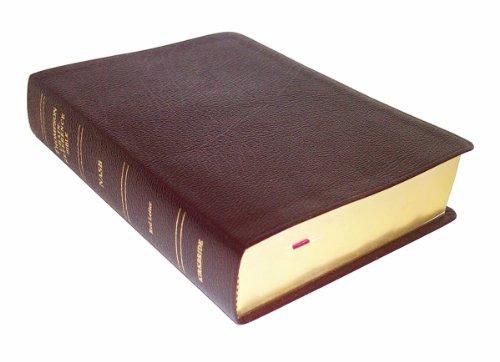 NASB - Burgundy Bonded Leather - Regular Size - Thompson Chain Reference Bible (016093)