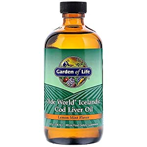 Garden of Life, Olde World Icelandic Cod Liver Oil, Lemon Mint Flavor, 8 fl oz (236 ml)