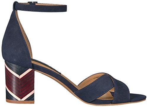 STEVEN by Steve Madden Womens Voomme-s Dress Sandal Navy Nubuck