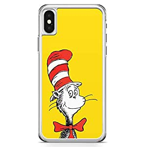 Loud Universe Dr Seuss Face Mask iPhone X Case Yellow and red iPhone X Cover with Transparent Edges