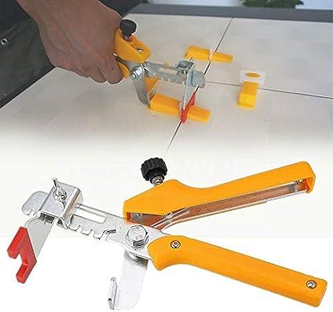 Suppyfly Sistema di livellamento per Piastrelle Localizzatore Pinza//Clip Cunei Kit di distanziali in plastica per Pavimento