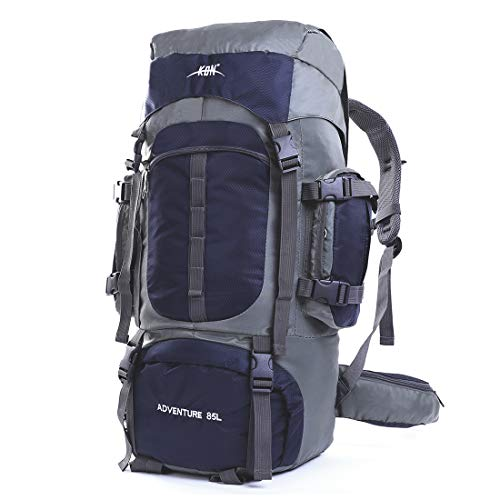 75 Internal Frame - Mooedcoe Mens Womens Large Capacity 75L Hiking Backpacks Outdoor Camping Traveling Trekking Pack Backpack with Internal Frame and Rain Cover,Dark Blue