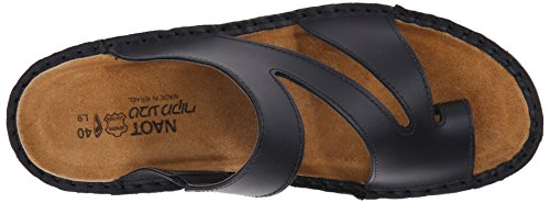 Black Leather Monterey Women's Matte Naot Sandal Wedge x0I1IY