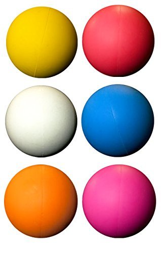 LBS Lacrosse Ball Set - 6 Assorted Color Balls by LBS by LBS