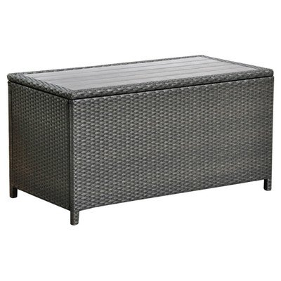 Wicker Resin/Aluminum Patio Storage Trunk (Paint For Wicker Furniture For Outdoor)