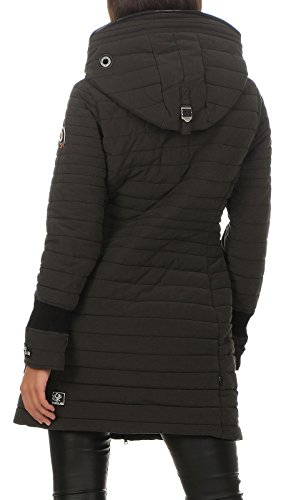 Para Con Khujo Abrigo De Capucha Mujer Negro v701g8x