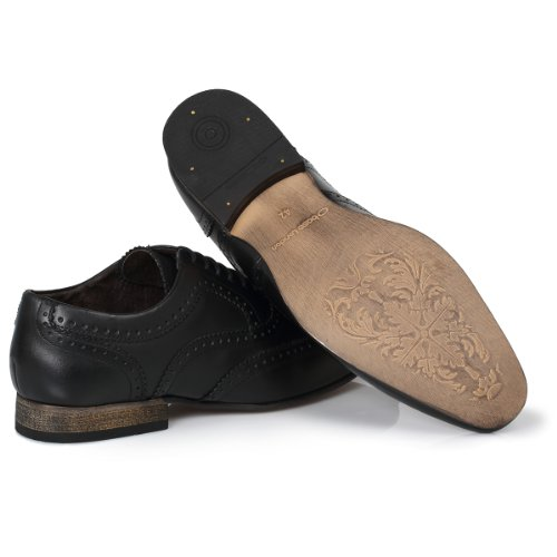 Base London Nutmeg Nero Brogues