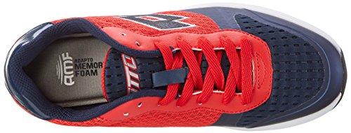 Lotto Dayride Ii Amf, Zapatillas de Deporte Exterior para Hombre Rojo (Red Gng/blu Avi)