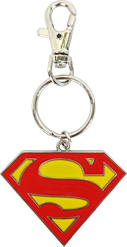 Square Deal Recordings & Supplies Superman - Classic S Logo on Silver Colored Metal - Key Chain (Square Deal Recordings&supplies)