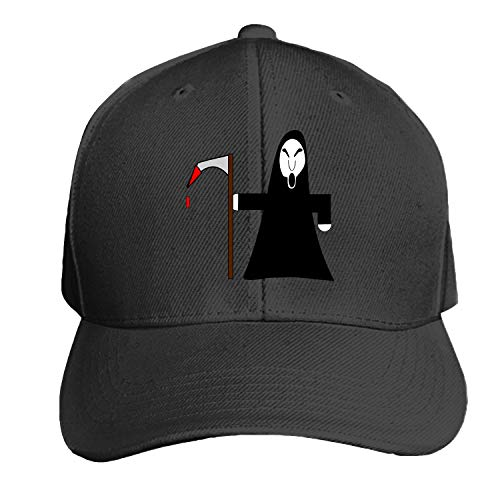 Peaked hat Reaper Grim Scythe Hooded Skull Death Halloween Adjustable Sandwich Baseball Cap Cotton Snapback -