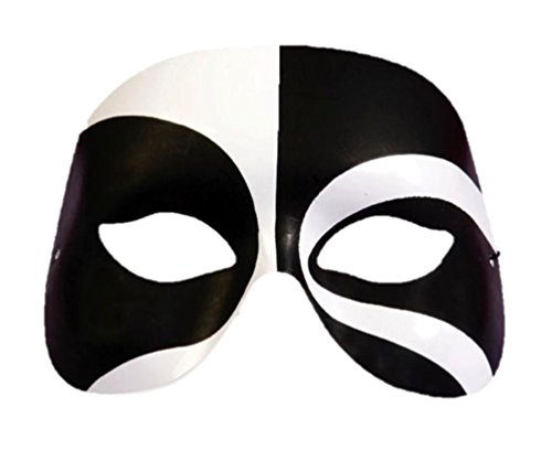 Forum Novelties Black and White Voodoo Eye Mask Halloween Masquerade Ball New