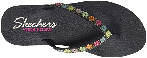 Delight Skechers Meditation Sandals Flat Navy Daisy Women's 8rtOrq