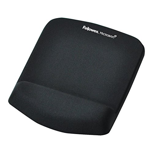 (Fellowes PlushTouch Mouse Pad/Wrist Rest with FoamFusion Technology, Black (9252001))