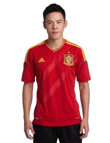 adidas 2012-13 Spain Home Football Soccer T-Shirt Jersey