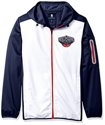 G-III Sports NBA Orleans Pelicans Men's Composition Full Zip Hooded Jacket, XX-Large, Navy (Mens G-iii Jacket)