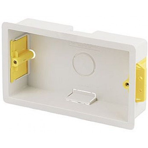 Appleby Pack of 5 x SB629 2 Gang 35mm Dry Lining Wall Boxes