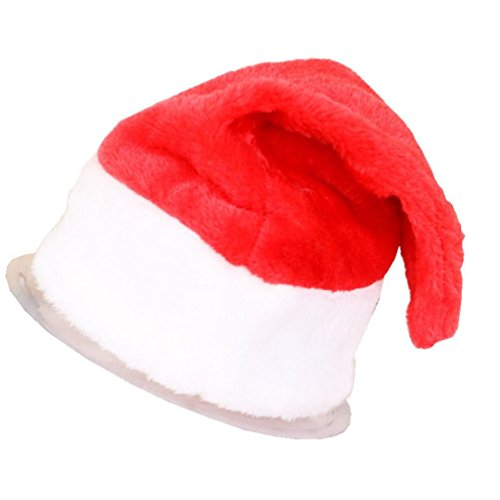 Tenworld Adult Child Christmas Party Santa Hat Red Santa Claus Caps (Adult-39cm28cm) (Santa Claus Cap)