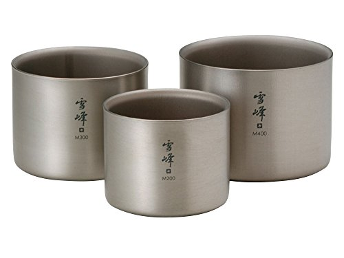 snow peak Titanium Stacking Mug Double Wall Ware Combo Sets TW-136 ()
