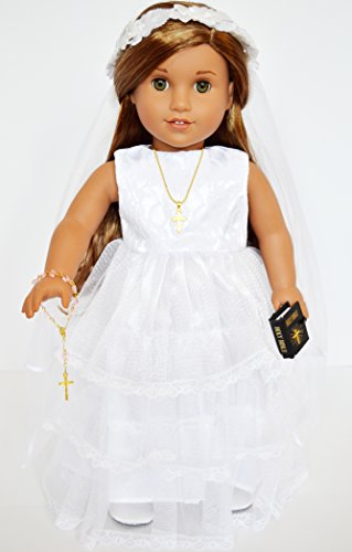 Lace Communion For American Girl Dolls-Tiered Bottom with Lace (Tiered Trim)