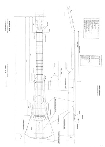 Full Scale Plans for making the Martin Backpacker Guitar -