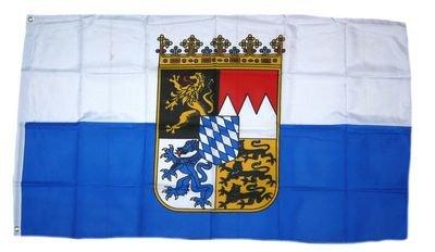 Fahne / Flagge Freistaat Bayern Dienstflagge blau / weiß 90 x 150 cm
