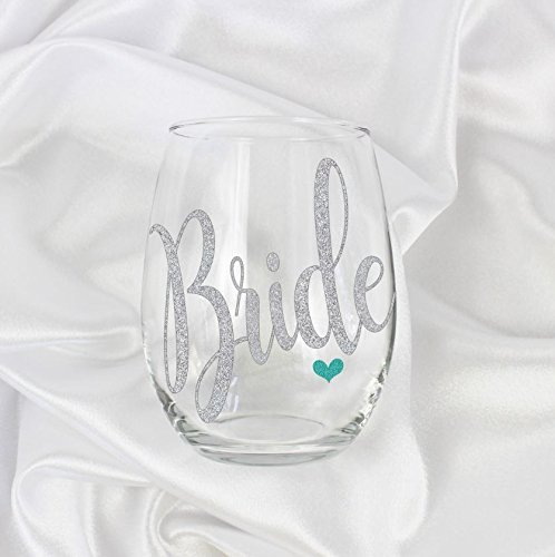 bride to be wine glass stemless classy bridal shower gifts for bride wedding 20oz