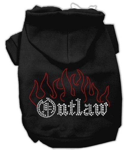 Mirage Pet Products Outlaw Rhinestone Hoodies Black L (14)