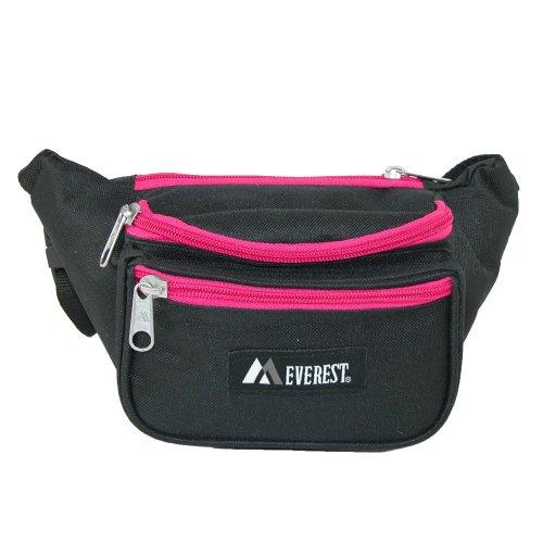 Everest Signature Waist Pack - Standard (Black/Hot Pink)