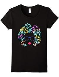 Afro Girl T-Shirt: Natural Hair & Glasses, Black Women Art