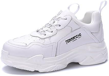 QQWWEERTT. Zapatillas deportivas de moda, con muelles hembra y parte inferior gruesa, para correr casual, ligeras, color blanco, tamaño 5: Amazon.es: Deportes y aire libre