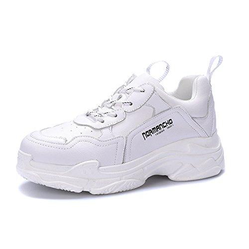blanc Fond Femme Nouveau de épais Printemps Mode QQWWEERRTT Léger Casual Sport Augmenté Chaussures Chaussures Course nwaWx6RUq