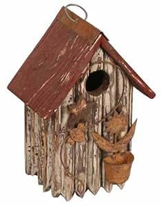 Garden Decoration ZH3014C Birdhouse, 9.5-Inch, Cream