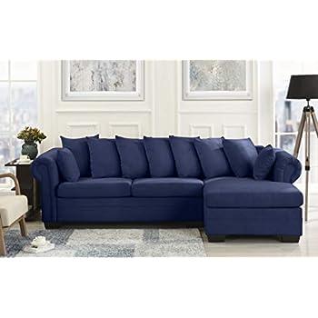 Amazon.com: Modern Large Microfiber Sectional Sofa, L ...