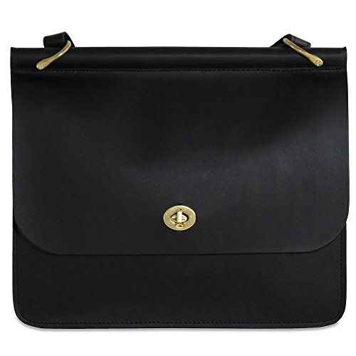 Bag Georges Jack Leather (Jack Georges University Leather Dowel Handbag in Black)