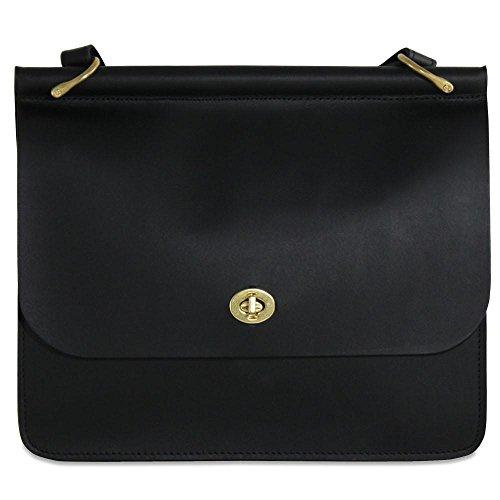Jack Georges Womens University Dowel Top Classic Handbag in Black