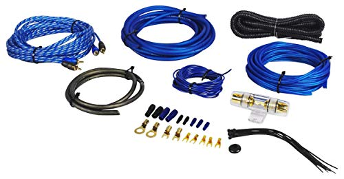 Rockville RWK81 8 Gauge Complete Amp Installation Wire Kit with 100% Copper RCA