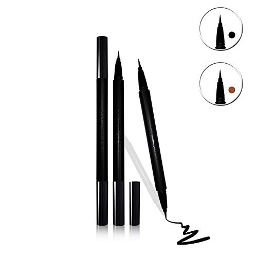 Mesaidu 2-in-1 Eye Makeup Super Slim, Long Lasting, Waterproof, Liquid Eyeliner (Black)