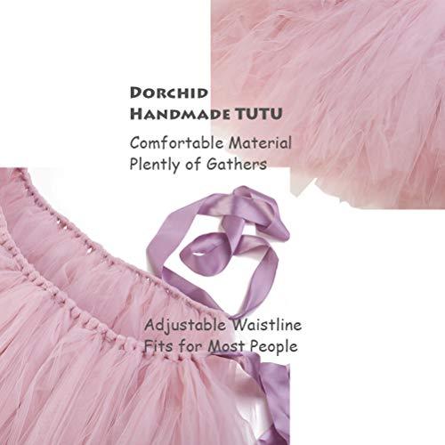 91cf8f011d Dorchid Women Puffy Tutu Tulle Skirt Crinoline for Dance Maxi Plus Size  Dusty Pink