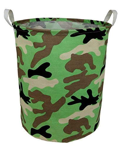 BOOHIT Cotton Fabric Storage Bin,Collapsible Laundry Basket-Waterproof Large Storage Baskets,Toy Organizer,Home Decor(Camouflage)