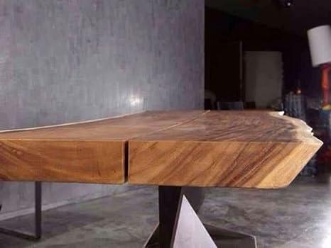 tavolo in cedro massello gambe in ferro 180x80 stile industriale ...