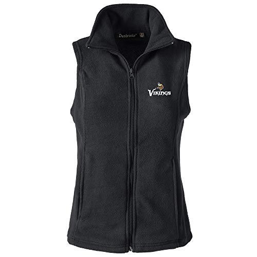 NFL Minnesota Vikings Womens Houston Ladies Fleece Vest, Black, -