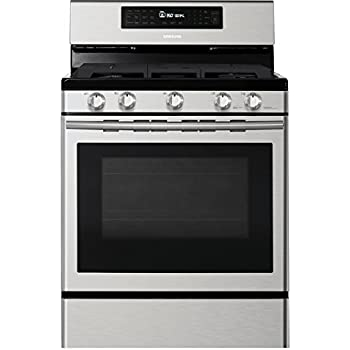 Samsung NX58H5600SS 30 In Freestanding Gas Range With Custom Griddle And 58 Cu Ft Convection Oven Stainless Steel