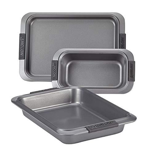 Anolon Advanced Nonstick Bakeware Bakeware Set, 3-Piece, Gray