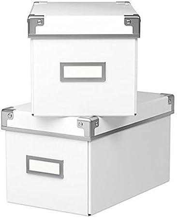 Ikea Cajas KASSETT para almacenar CDs para librerías BILLY (Pack ...