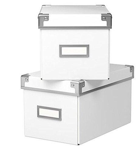 Ikea Cajas KASSETT para almacenar CDs para librerías BILLY ...