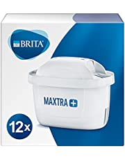 BRITA waterfilterpatronen MAXTRA+ 12-Pack, filters voor alle BRITA waterfilterkannen, verminderen kalk en verbeteren de smaak van kraanwater