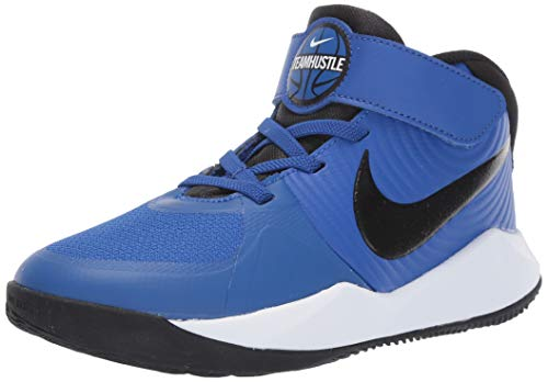 Nike Unisex Team Hustle D 9 (PS) Sneaker, Game Royal/Black-White, 1Y Regular US Little Kid