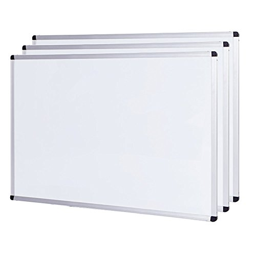 VIZ-PRO Magnetic Dry Erase Board - 24 X 18 Inches - 3 Pack - Silver Aluminium Frame