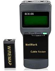 جهاز فحص اسلاك الشبكة مزود بامكانية فحص المدى وبشاشة ال سي دي - AUA SC8108